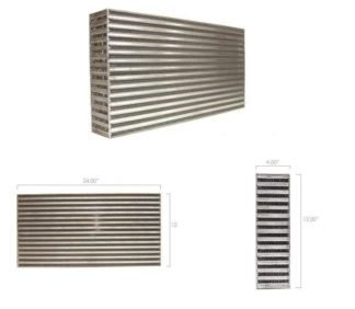 "ATP Garrett GT High Density / High Efficiency ""Bar and Plate"" 23.7x12x3.8-in Intercooler Core - Universal"