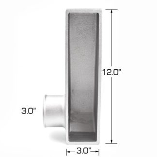 3-in Outlet Bottom Right Aluminum End Tank (One End Tank) - Universal
