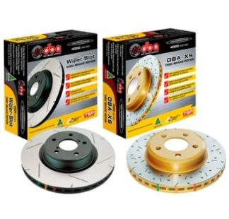 DBA 4000 Series Rear Slotted Rotor Subaru STI 2004-2007