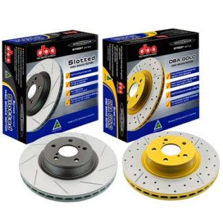 DBA Street Series Rear Drilled & Slotted Rotor Subaru WRX 2002-2005