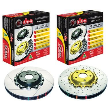 DBA Front Slotted & Drilled 5000 Series Rotor Black Hat BRZ Premium / Scion FR-S 2013-2016 / WRX 2002-2014