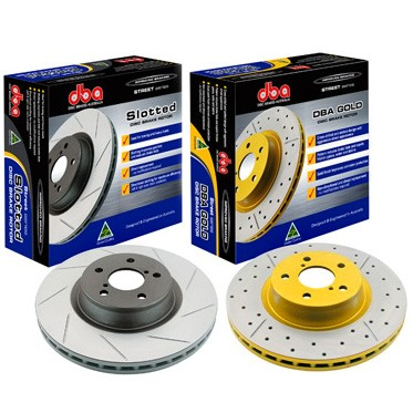 DBA Front Slotted Street Series Brake Rotor Subaru WRX 02-14 / Forester 09-13 / BRZ / FR-S 13-16
