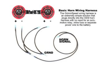 GrimmSpeed Hella Horn Wiring Harness Subaru WRX / STI / Legacy / Outback / Forester