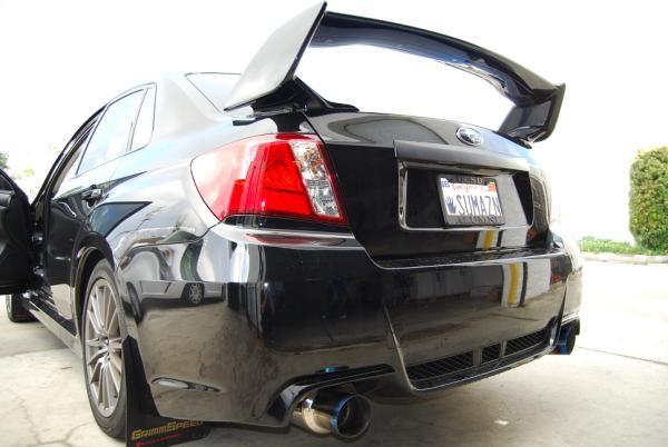 Invidia Dual N1 Burnt Titanium Tips Cat Back Exhaust Subaru WRX STI Sedan 2008 2014