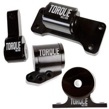 Torque Solution Complete Billet Engine Motor Mount Kit EVO 8 + 9(5 Speed)